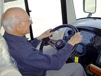 Customer then drives the motorcoach
